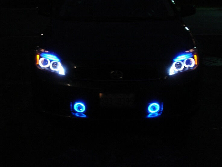 white angel eye halo fog lamps lights kit for 2005 2010. Black Bedroom Furniture Sets. Home Design Ideas