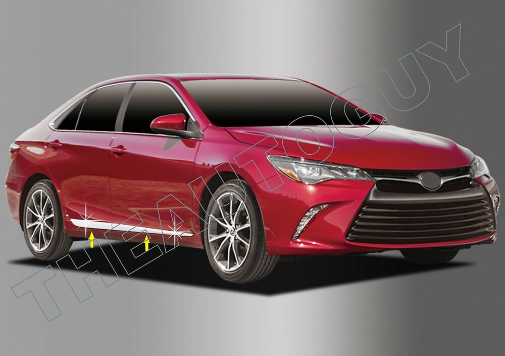 2015 2016 Toyota Camry 4 Pc Abs Chrome Plated Lower Body