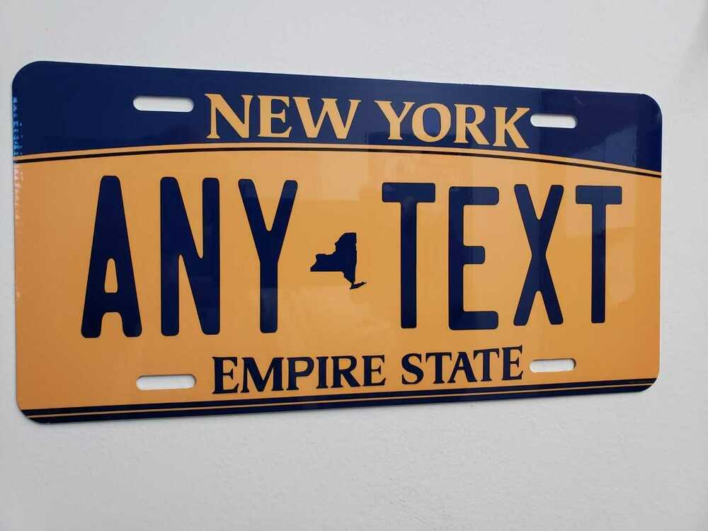 CUSTOMIZE THIS NEW YORK LICENSE PLATE