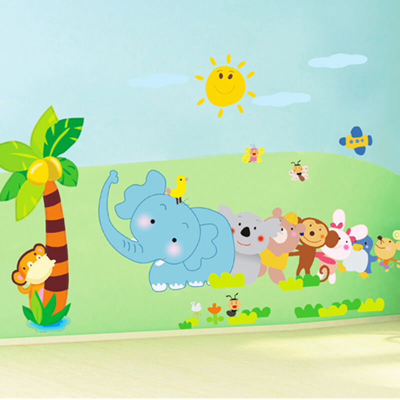 forest animals wall sticker for children room wall art mural baby room