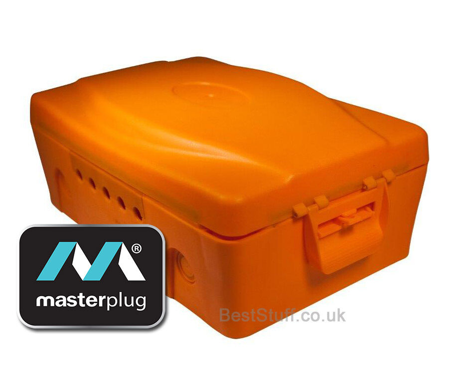 Plastic Weatherproof Electrical Boxes: Masterplug IP54 Orange Weatherproof Electric Box