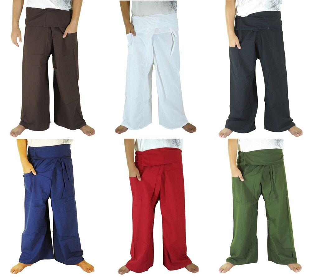 New Extra Long Cotton Thai Fisherman Pants Casual Hippie