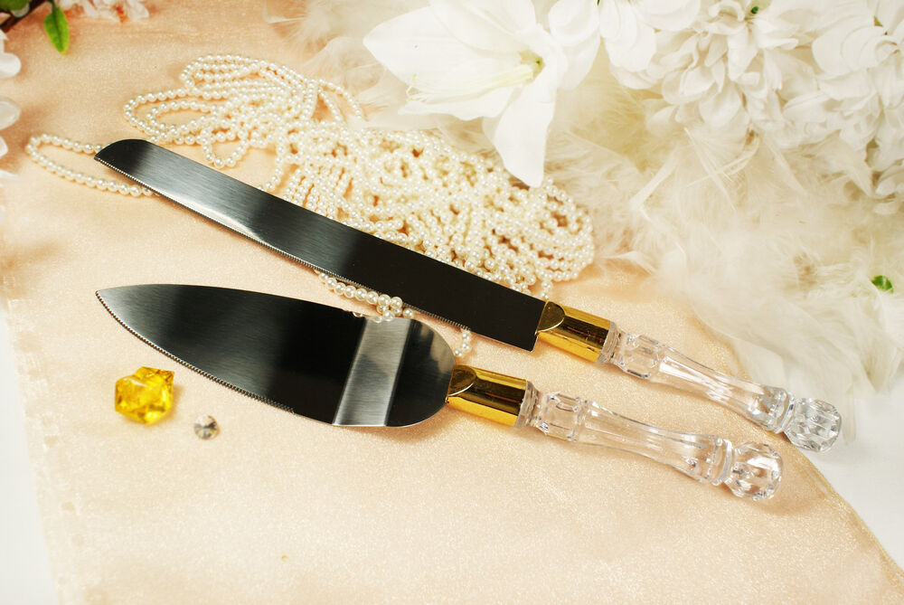wedding knife and wedding cake server set with or without personalized engraved ebay. Black Bedroom Furniture Sets. Home Design Ideas