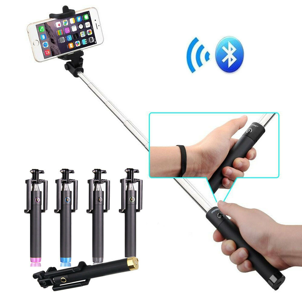 monopod extendable bluetooth wireless selfie stick for iphone samsung htc moto ebay. Black Bedroom Furniture Sets. Home Design Ideas