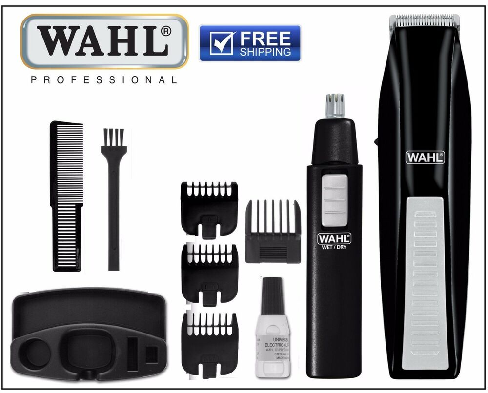 wahl man beard trimmer nose trimmers shavers clippers hair cut face grooming. Black Bedroom Furniture Sets. Home Design Ideas
