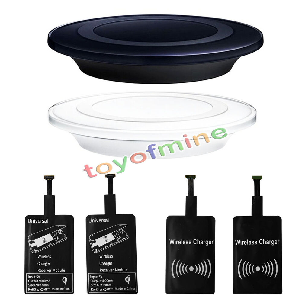 universal qi wireless charger charging pad receiver kit for micro usb android ebay. Black Bedroom Furniture Sets. Home Design Ideas