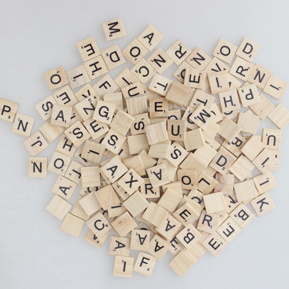 400 wooden scrabble tiles letters wedding magnets pendants craft