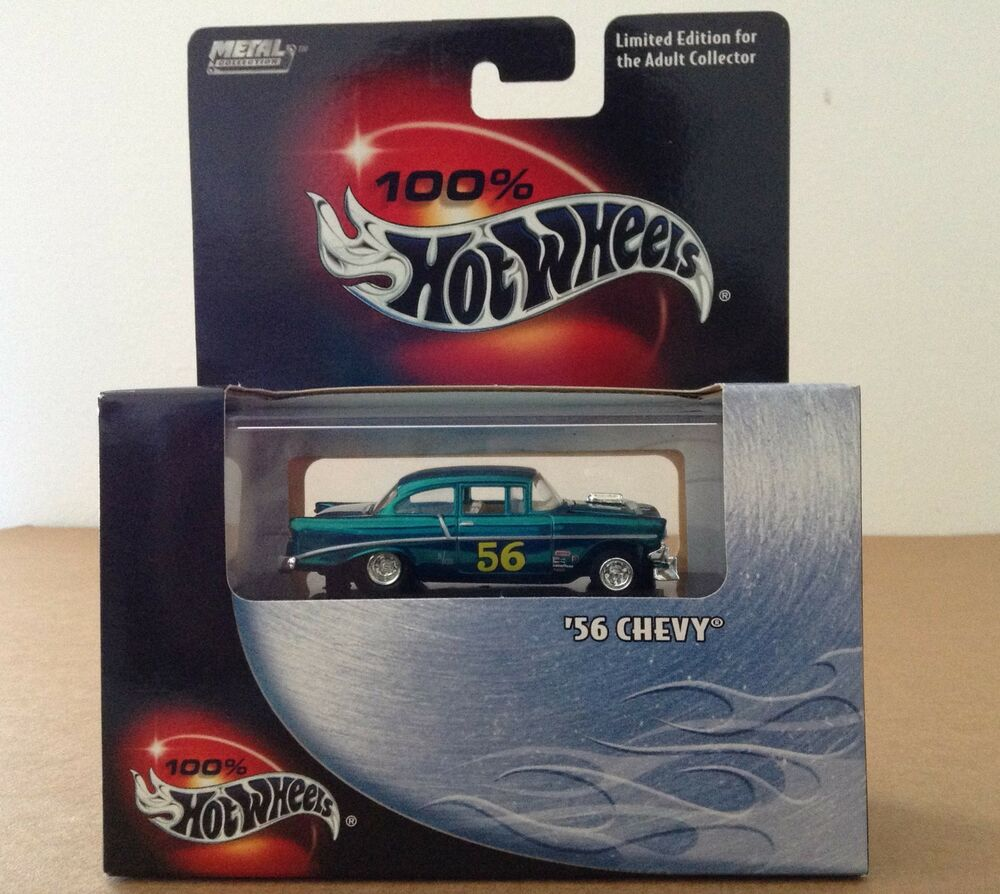 Limited Edition Cars: 100% Hot Wheels Metal Collection 1956 Chevy Car 1:64