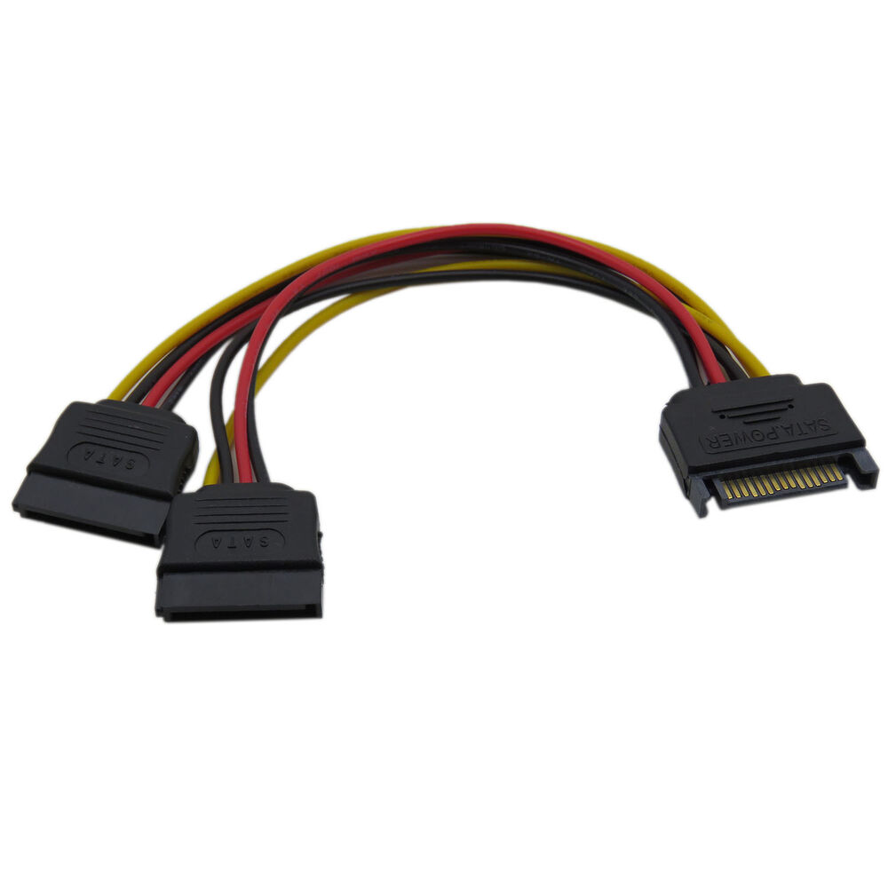Sata Power Splitter : Pin sata male to splitter female power cable sa