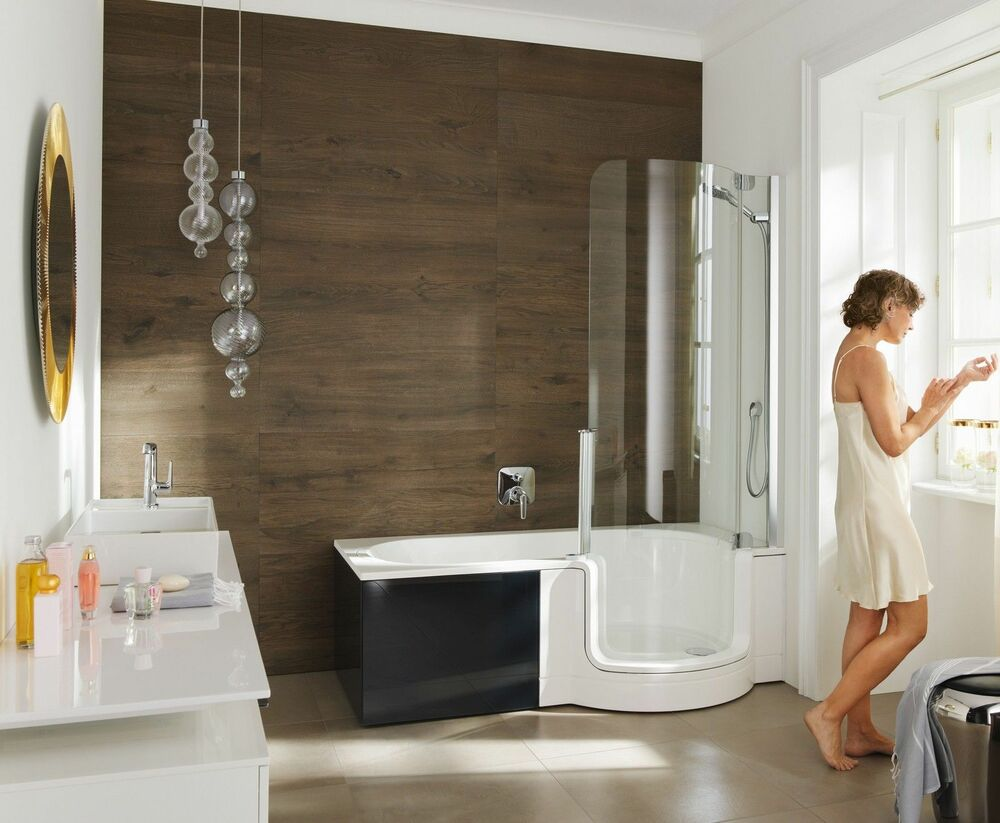 artweger twinline 1 dusch badewanne 170 mit t r mit glasfront kombiwanne ebay. Black Bedroom Furniture Sets. Home Design Ideas