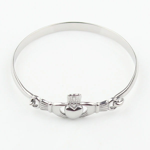 Women S Silver Stainless Steel Irish Claddagh Promise