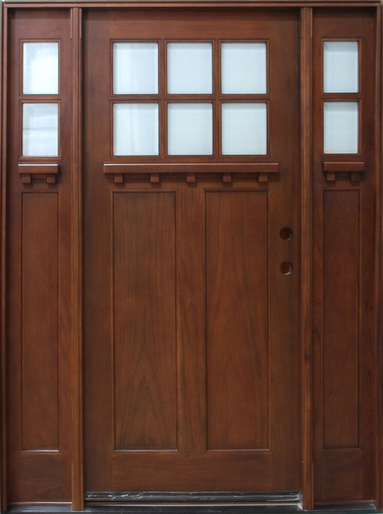 Solid Mahogany Craftsman Front Unit Pre Hung Finished Tmh7216 5 Dcb 5 0x6 8 Ebay