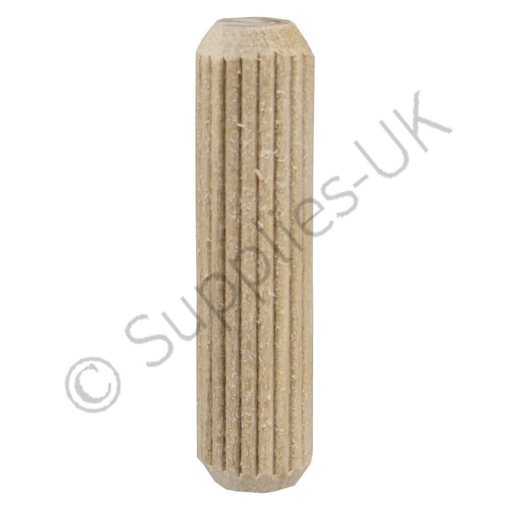 10mm X 40mm Wooden Dowel Pins Hardwood Fluted Grooved Plugs Furniture Joinery Ebay