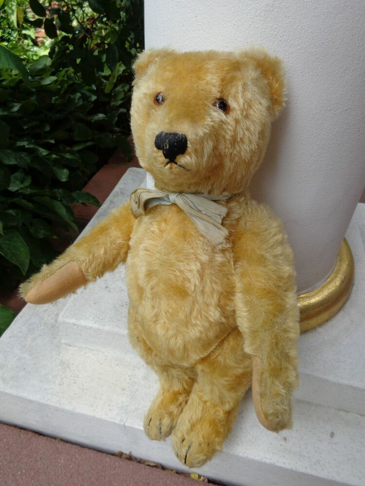 Original Vintage German STEIFF Teddy Bear Blond Mohair