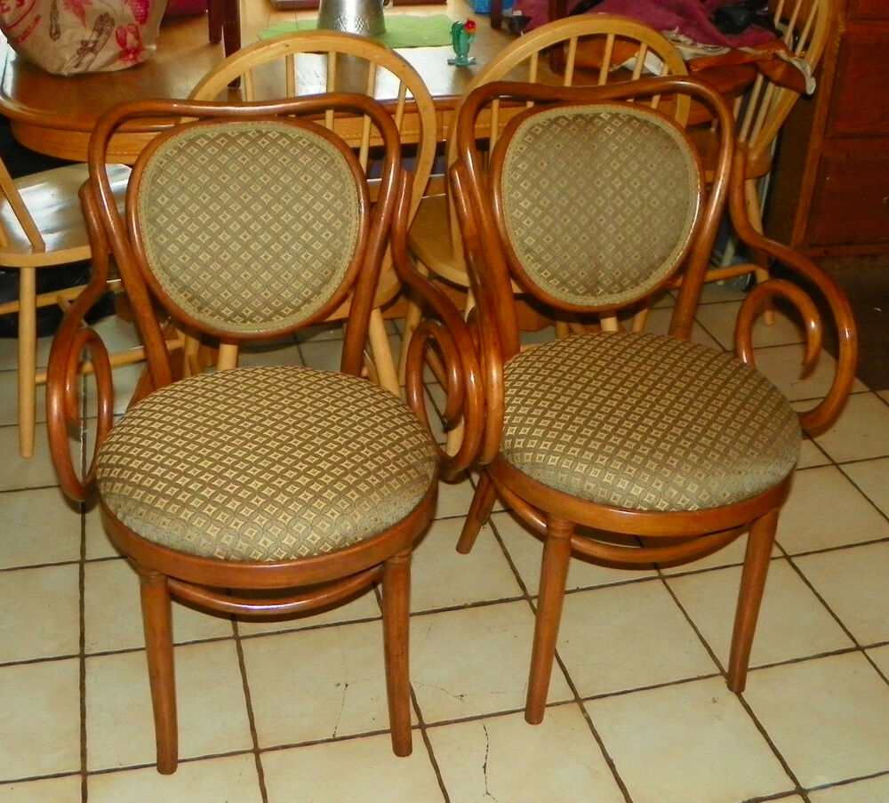 pair of maple bentwood armchairs chairs ac166 ebay