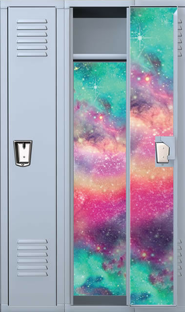Colored Galaxy Full Length Vinyl Magnetic School Locker