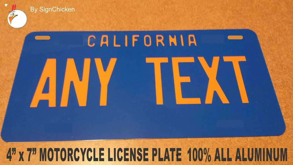 personalized california custom novelty state license plate vintage replica 6x12 ebay. Black Bedroom Furniture Sets. Home Design Ideas