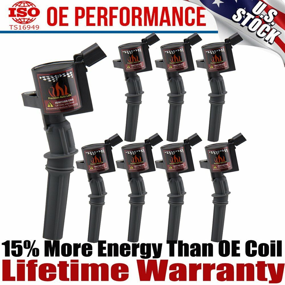 Set Of 8 Pack Ignition Coils High Energy Coils Ford 4 6l 5