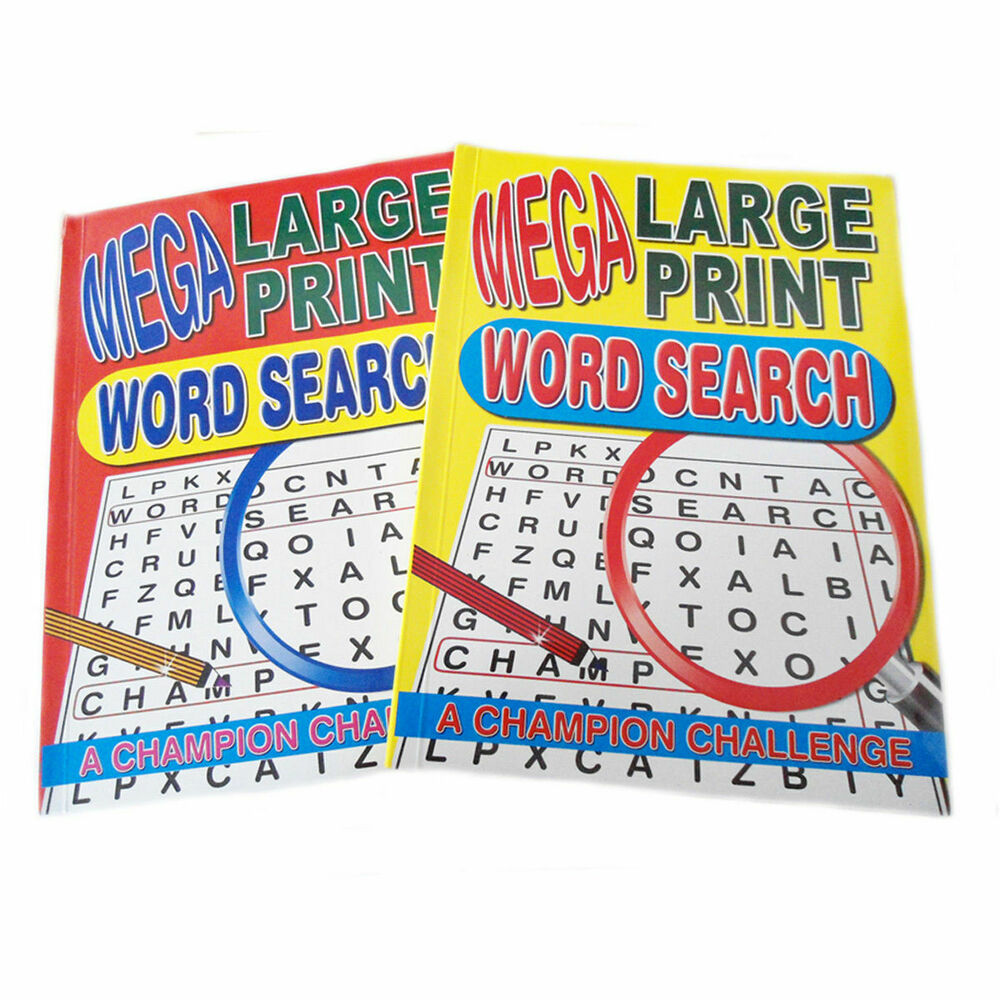 2* 1&2 Mega Large Print Word Search Puzzle Books 129 A4