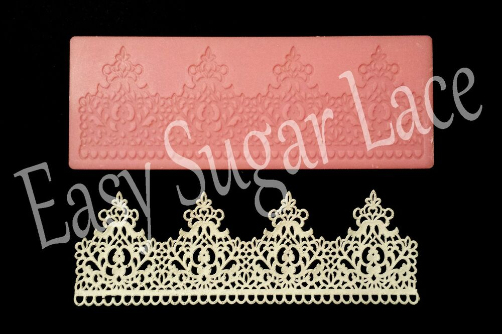 Silicone Imperial Cake Lace Mat Mold For Edible Sugar