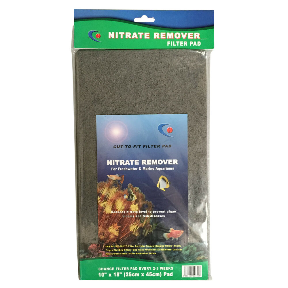 Diy nitrate remover filter foam sponge sheet for aquarium for Nitrite in fish tank