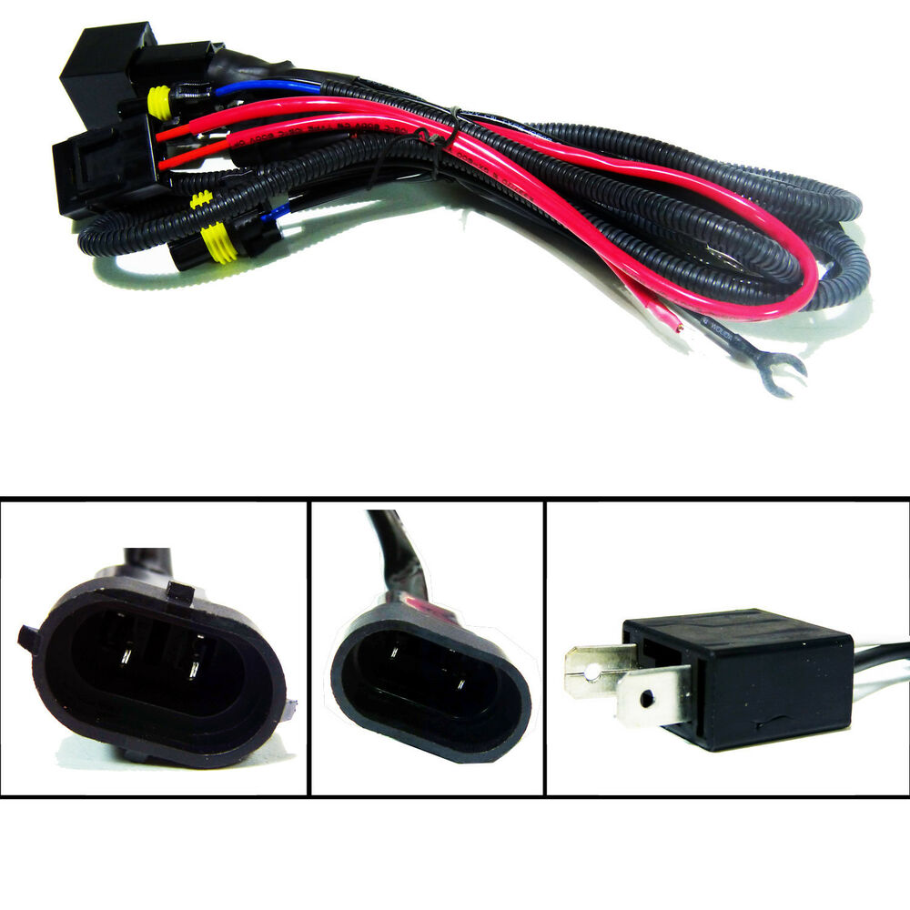 Hid relay wiring harness xenon kit h