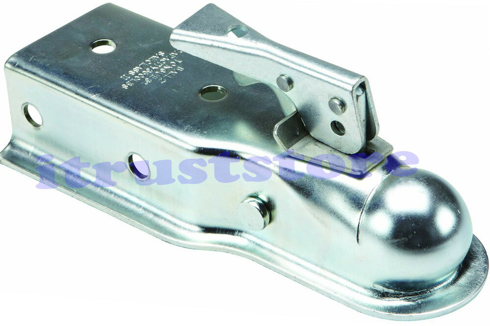Spring Hitch Coupler : Quot inch tow ball hitch coupler bolt on trailer