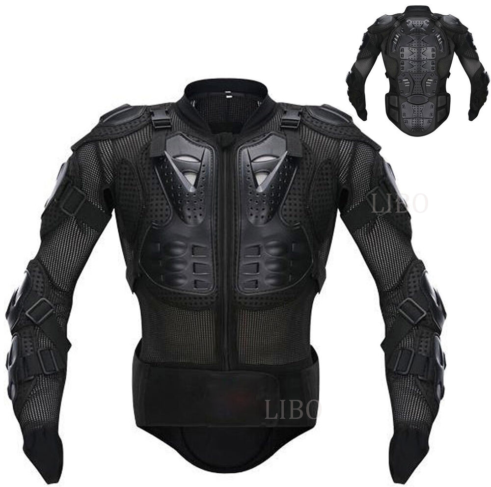 Motorcycle motorcross racing full body armor spine chest for Motorcycle body armor shirt