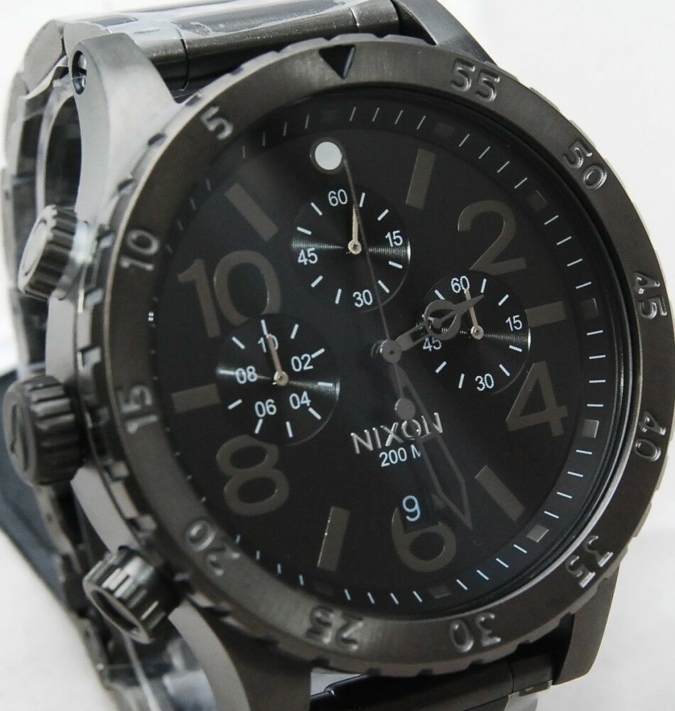 nib nixon 48 20 chrono all gunmetal s a486632