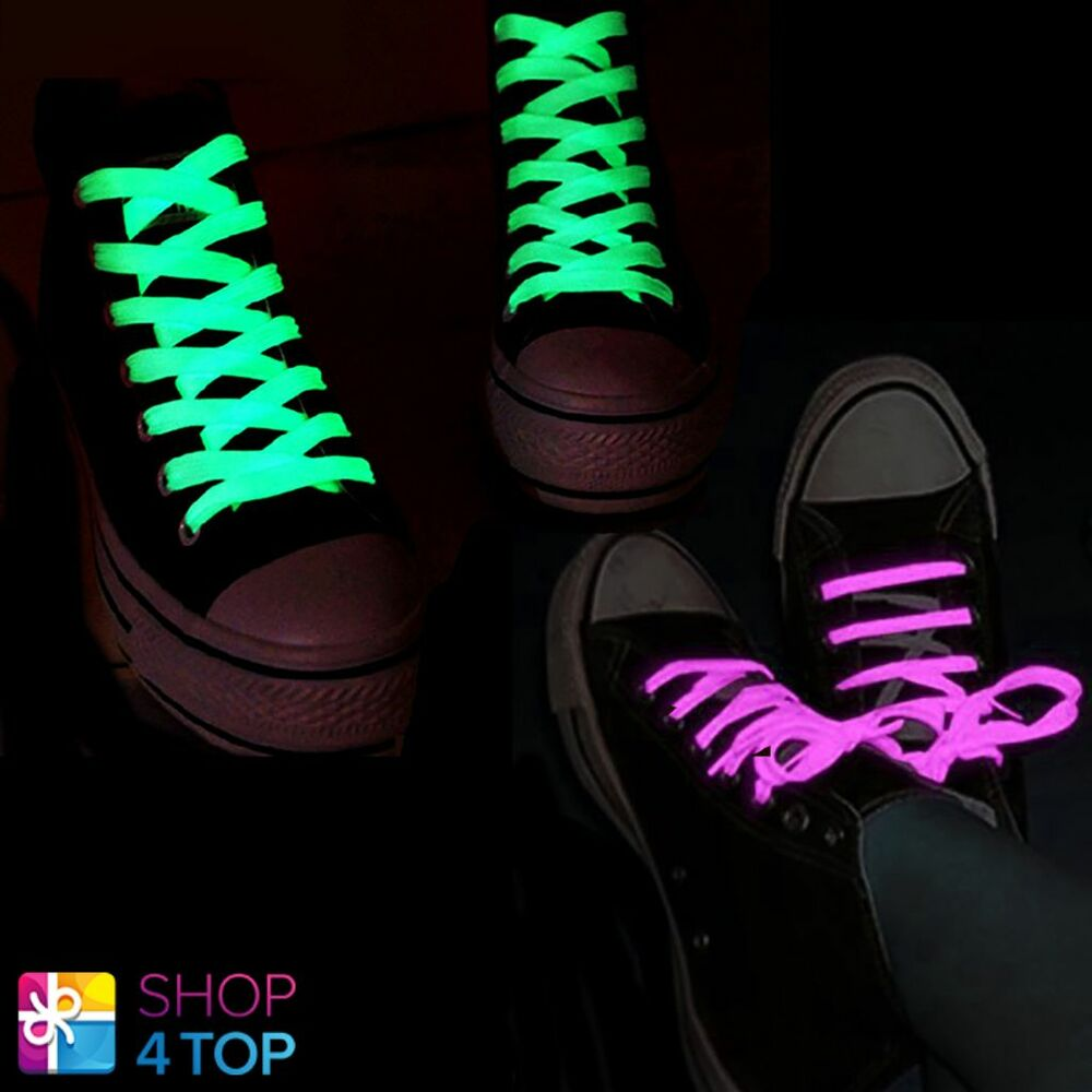 White Glow In The Dark Shoe Laces