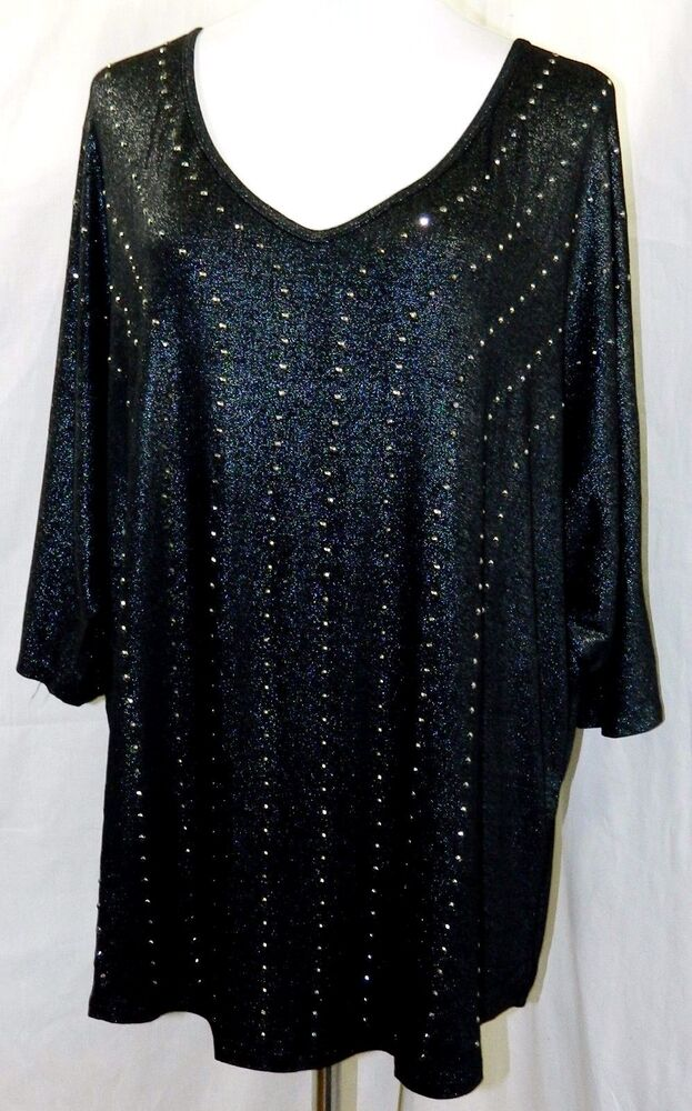 Womens Black And Silver Blouse 94