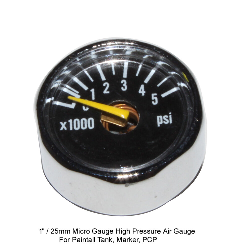 Micro Gauge 1 Inch 5000 Psi High Pressure For Hpa Nitro