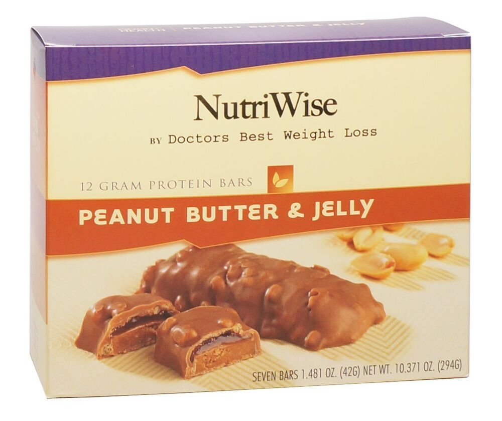 NutriWise - Peanut Butter & Jelly Diet Protein Bars (7 bars) Ideal ...