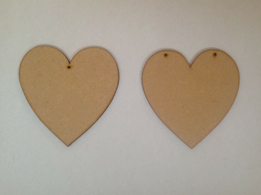 10 x large wooden hearts 15cm craft shapes ebay for Wooden hearts for crafts