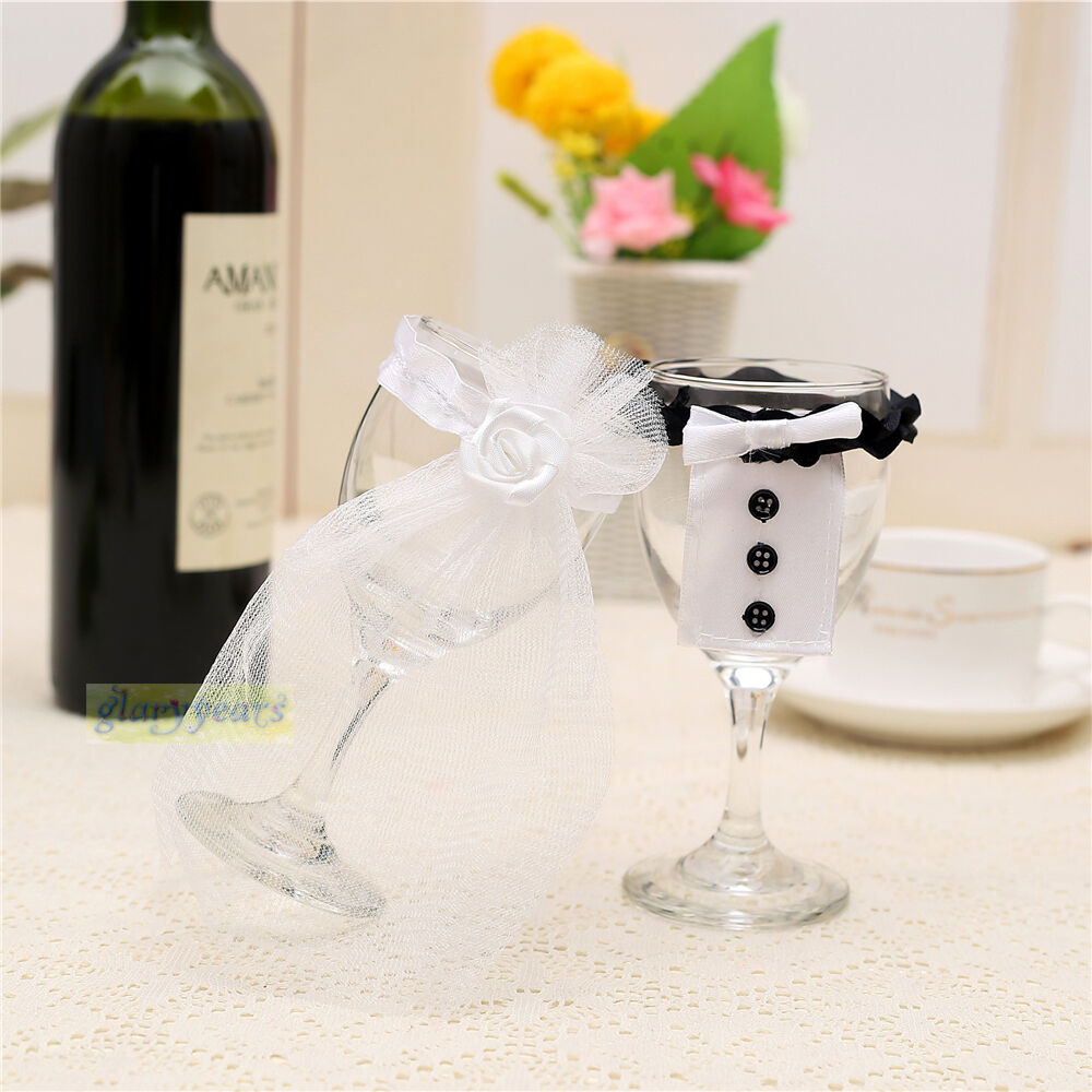 2015 hot wedding toasting wine glass decoration bride for Wine glass decorations for weddings