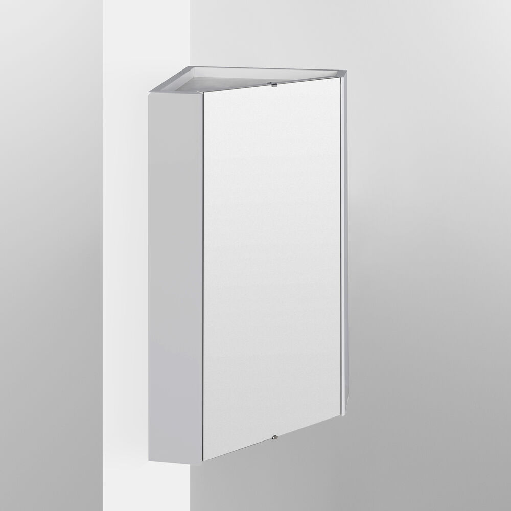 Premier Cardinal Corner Mirrored Bathroom Cabinet 459mm W White