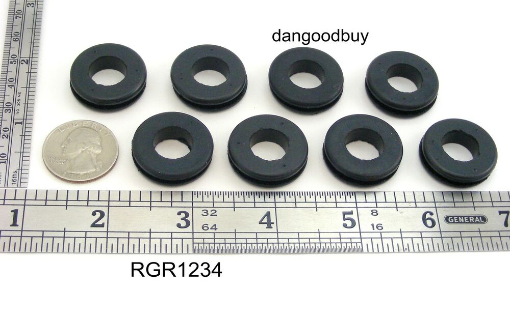 50 rubber grommets 1 2 inner diameter fits 3 4 panel