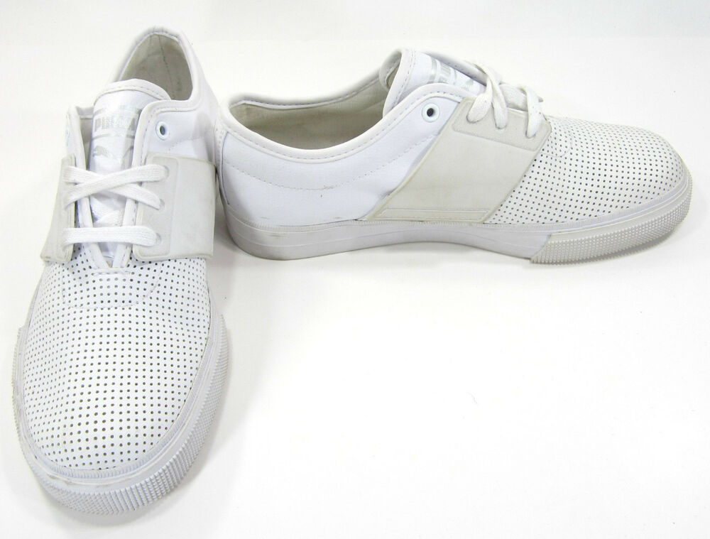 73ecdf1817 Details about Puma Shoes El Ace Perforated Leather White Sneakers Size 6.5