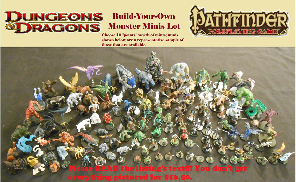 Choose Your Own Dd Monsters Minis Lot Miniatures Dungeons Dragons