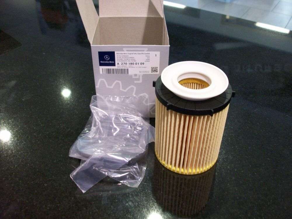 Oem genuine mercedes benz oil filter and seal 15 up gla for Mercedes benz oil