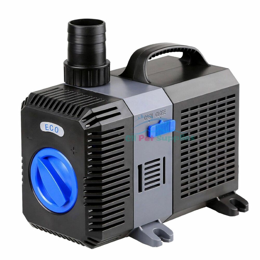 2100 gph submersible pond pump adjustable inline fountain for Fish pond pumps and filters