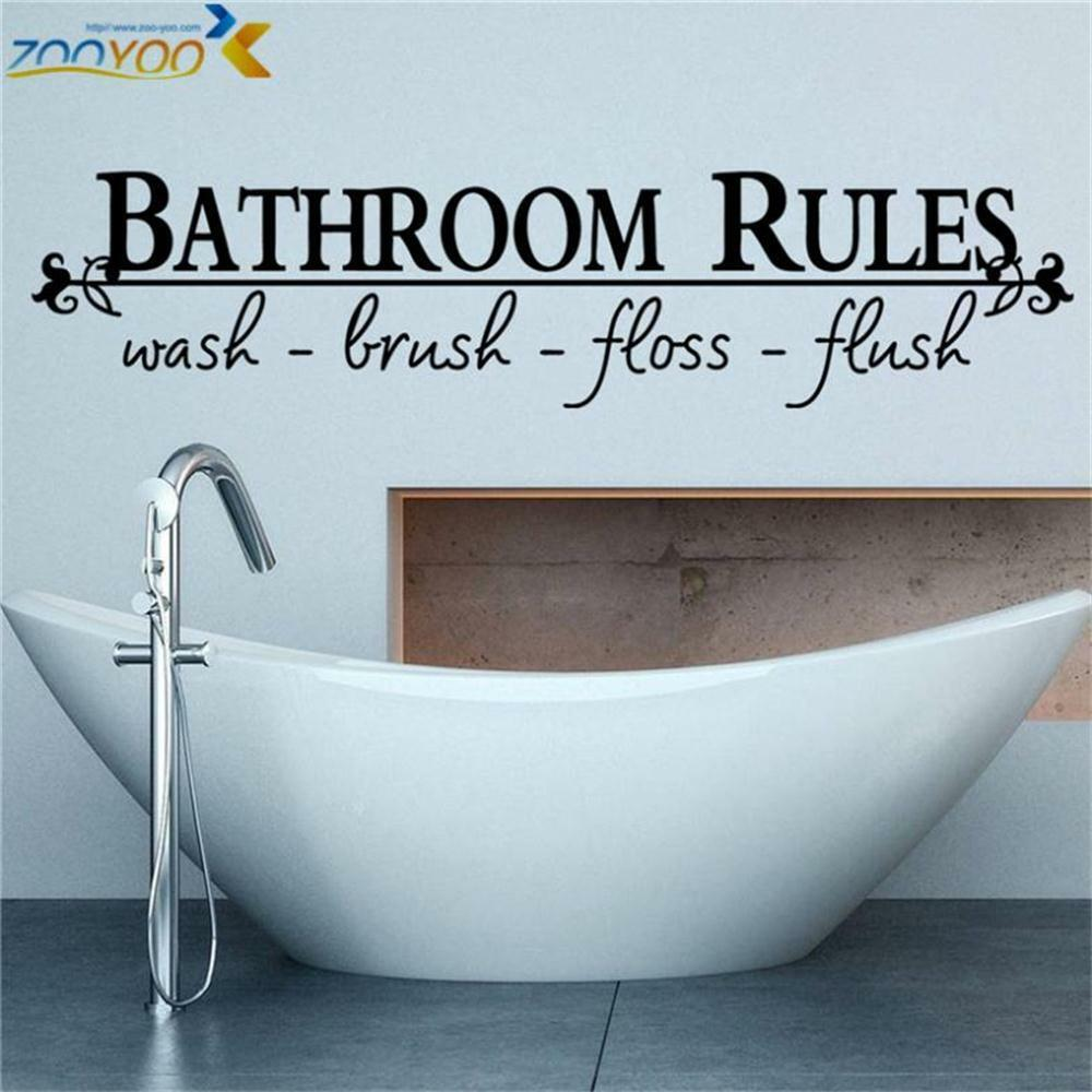 Bathroom Wall Art Quotes: Bathroom Rules Home Decoration Vinyl Wall Sticker Window