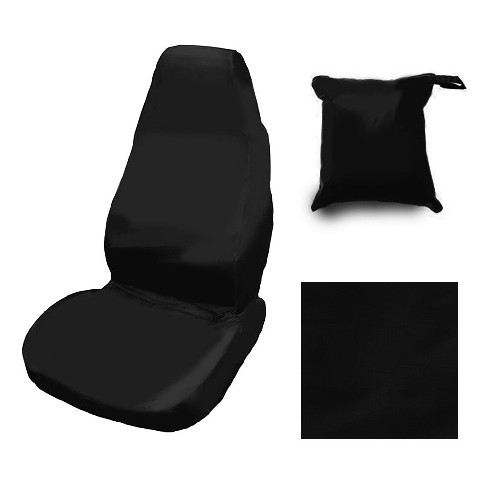 heavy duty front seat cover universal car van black waterproof protector ebay. Black Bedroom Furniture Sets. Home Design Ideas