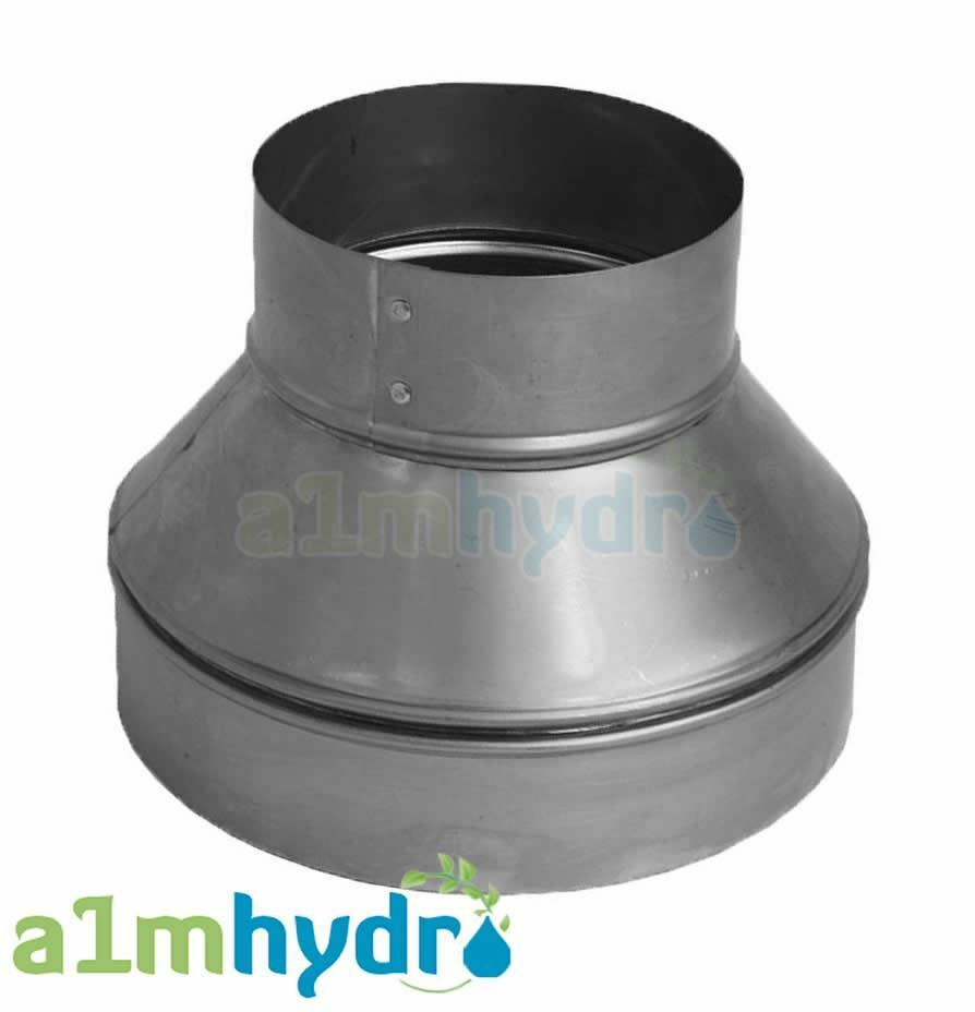 Metal extraction fan ducting ventilation pipe reducer
