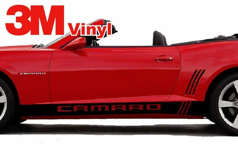 Camaro Stripes And Decals >> Camaro Rocker Graphics Side Stripes Decal Kit 2010 2015 LS SS LT 3M | eBay