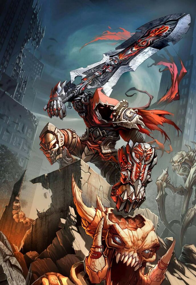"""Darksiders Wrath of War Game Fabric poster 36"""" x 24"""" Decor ..."""