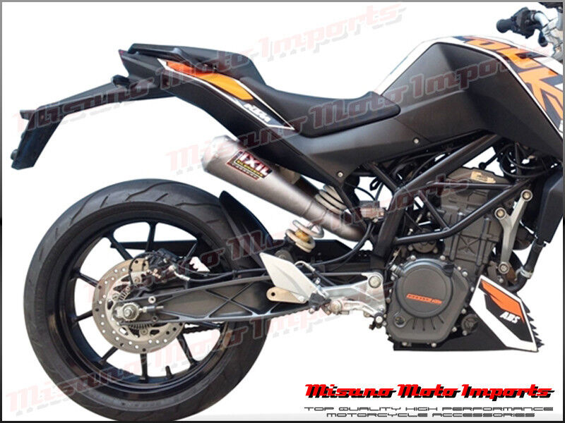 ktm duke 390 2013 2014 ixil ovc 11 slip on exhaust dual. Black Bedroom Furniture Sets. Home Design Ideas