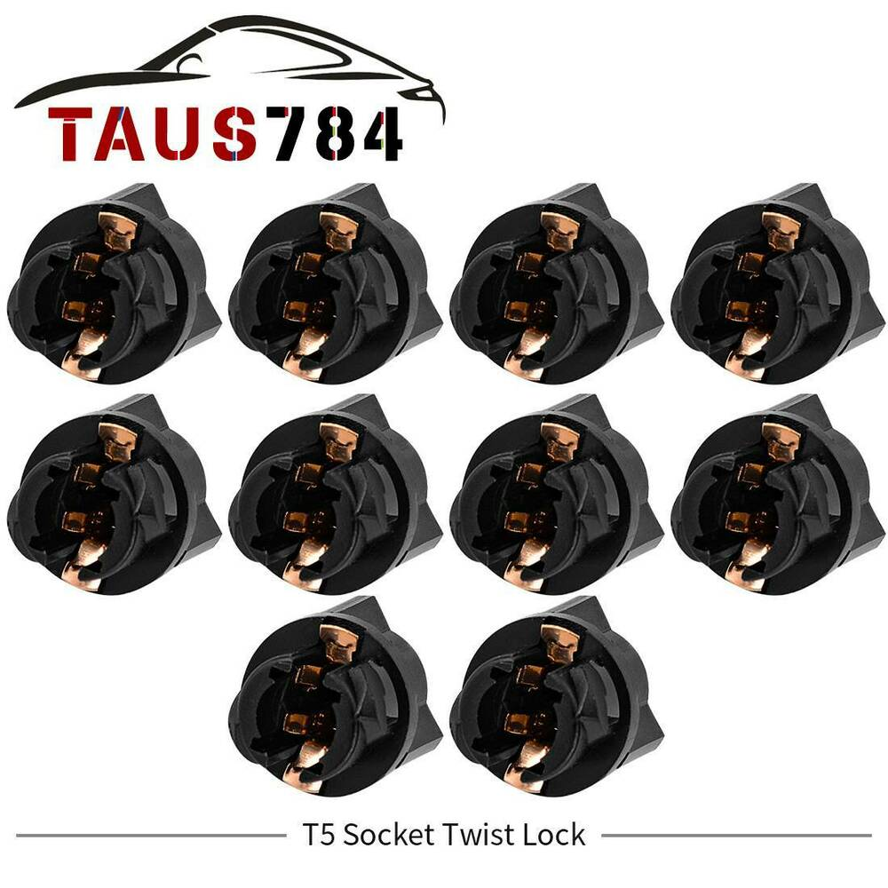 10 X T5 Socket Twist Lock For Pc74 Instrument Panel