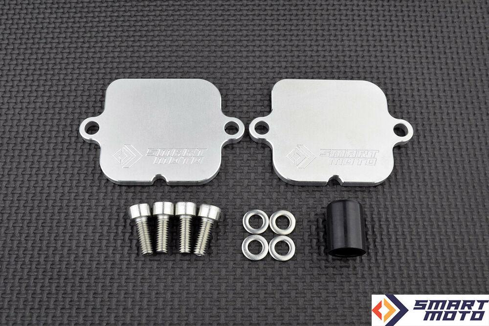 Pair Valve Eliminator Kit Smog Block Off Plates Honda Cbr