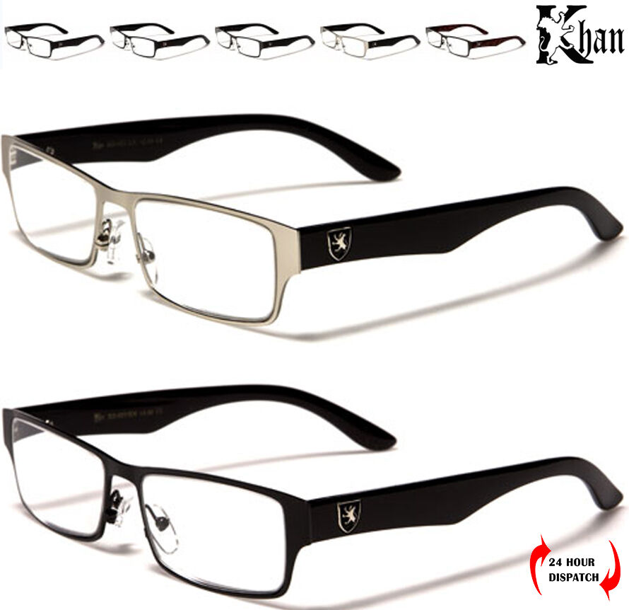 Mens Black Frame Reading Glasses : New Khan Rectangle Reading Glasses Readers Men Black Metal ...